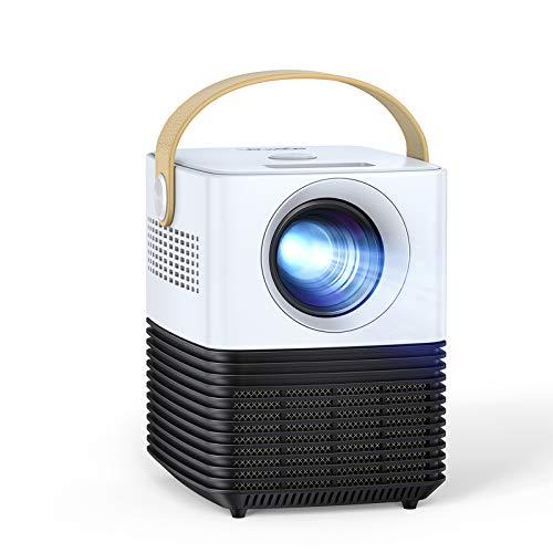 "Mini Beamer LC450P, 2021 Upgrade Native 1080P Mini Projector, ±50° Elektronische Korrektur, Dual Lautsprecher, 120\"" LED Full HD, mit HDMI/USB/AV, Für Phone/PS4/TV Stick/Miracast/PC, Für Heimkino"