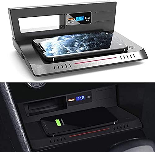 Cargador Inalámbrico Automóvil Para VW Tiguan 2018-2021 Panel de Accesorios Consola Central Cargador Rápido Inalámbrico de 15W con Puerto USB QC3.0 y Puerto PD de 18W Para IPhone Cualquier Teléfono Qi