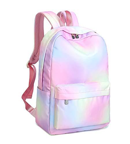Mochila escolar moderna e resistente à água da Leaper para faculdade, bolsa de viagem, Pink [Rb], Large