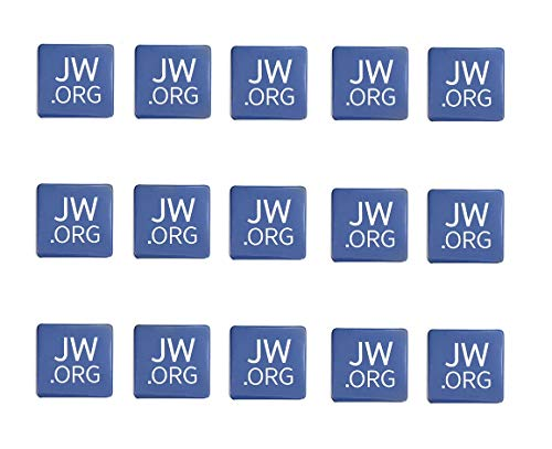 Jw.org Buttons-Made in USA Round Or Square Shape Buttons with Jw.org Logo (Square-1.5'-15 Pack)