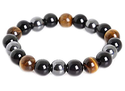 Mson Triple Protection Bracelet Black Obsidian Tiger...