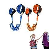 Arnes para Bebes y Niños, Correa de muñeca antipérdida, para niños, antipérdidas, arnés de seguridad para niños, paquete de 2 (1,5 m) Rotación de 360 Grados Correa de Muñeca