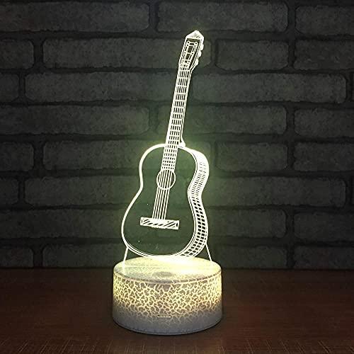 3D noche lámpara para guitarra producto creativo USB novedad USB lámpara led luces lámpara ilusión bebé regalos noche noche hogar