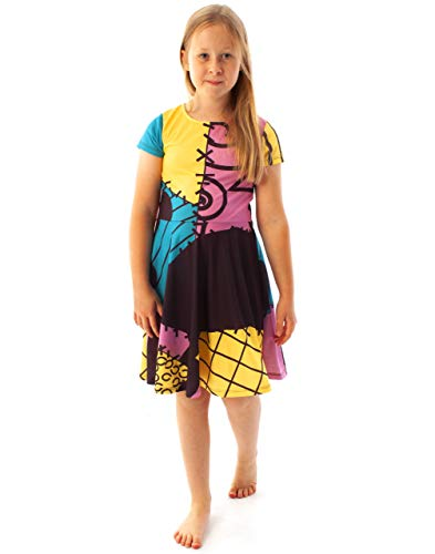Official Nightmare Before Christmas Sally Costume Girl's Dress (9-10 Years)