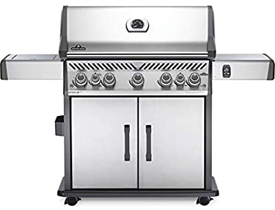 Napoleon RSE625RSIBNSS-1 Rogue SE 625 RSIB Gas Grill, sq. in. + Infrared Side and Rear Burners, Stainless Steel