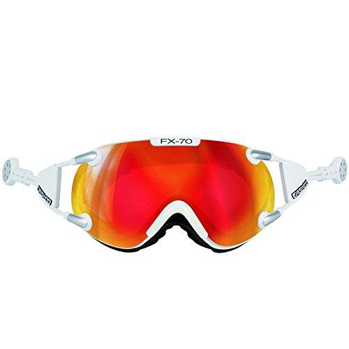 Casco Brille FX-70L Magnet-Link Carbonic, Colour: Weiss orange verspiegelt, Size: M