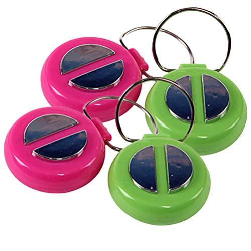 NUOBESTY 4 Pcs Campainha de Plástico de Mão Enrolar Anel de Campainha de Mão Piadas de Novidades Truques Práticos Brinquedos de Brincadeira