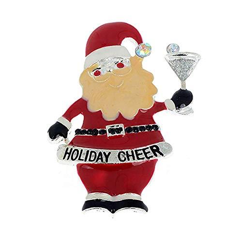 N-K PULABO Christmas Santa Sock Tree Snowman Brooch Pin Enamel Collar Xmas Women Jewelry Gift 1 Sturdy and Practical Beautiful