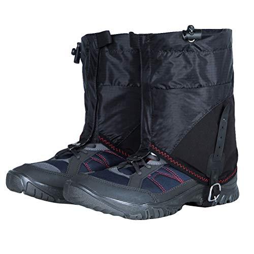 BESPORTBLE 2 szt. narty śniegowe wodoodporne pokrowce na buty wiatroszczelne ciepłe śniegowce kominy na nogi do wspinaczki snowboardowej jazdy na nartach