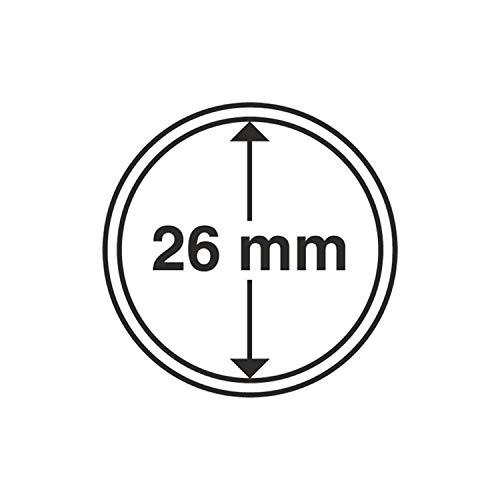 Leuchtturm 309404 cápsulas de Monedas diámetro Interior 26 mm