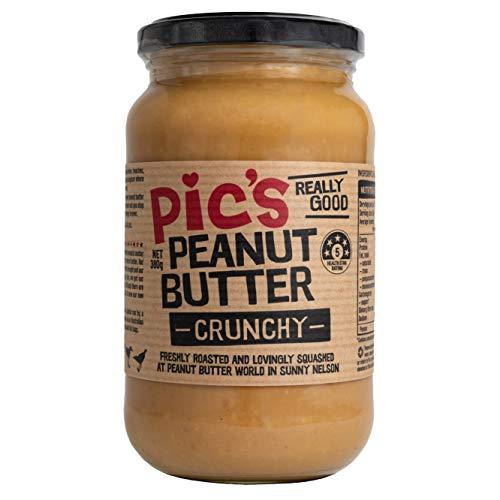 【Pic's Peanut Butter】ピックスピーナッツバター (あらびきクランチ-Crunchy-, 380g)