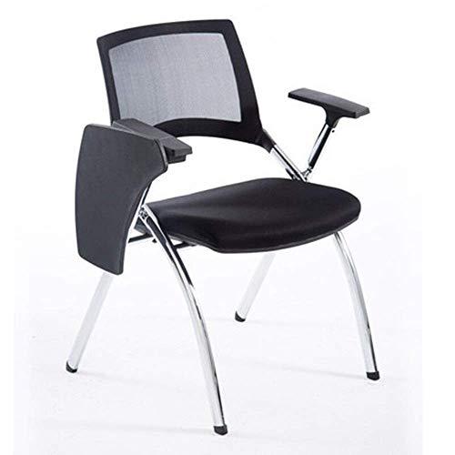 Esszimmerstuhl Arm Niststuhl Faltgepolsterte Büroempfangsschalterstühle Faltbarer Stuhl, mit einem Multifunktionsschreiben MISU