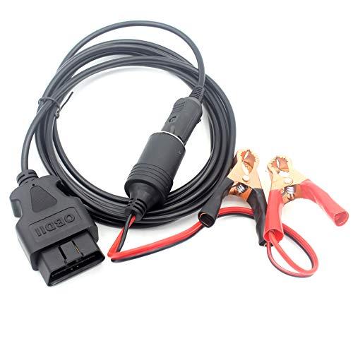 LoongGate OBD2 ahorro de memoria del coche 2 en 1, el cable de alimentación de emergencia del vehículo ECU con Cocodrilo clip-en 12V batería de coche encendedor de extensión de energía enchufe