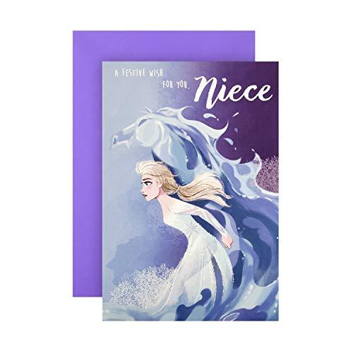 Biglietto Di Natale Per Nipote Di Hallmark – Disney Frozen II Design
