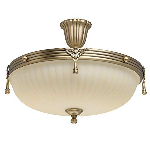 MW-Light 317011504 Lámpara de Techo Metal Color Bronce Antiguo 4 x 60W E14