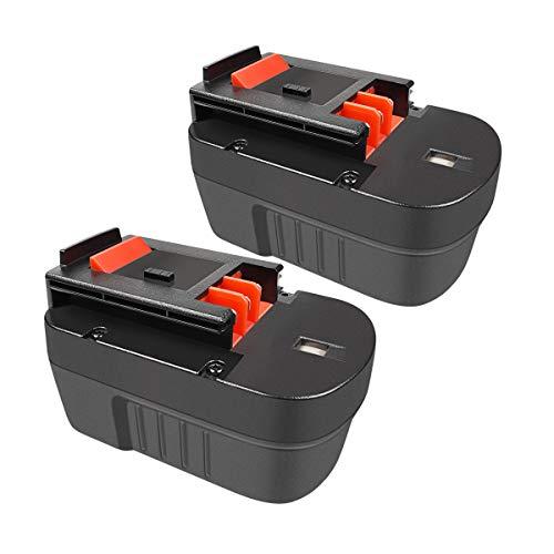 POWTREE 14.4V 3500mah HPB14 Replacement Battery Compatible with Black & Decker 14.4v FSB14 FS140BX Power Pack A14 BD1444L HPD14K-2 CP14KB HP146F2 CDC140AK Firestorm 499936-34 499936-35 A1714(2 Pack)