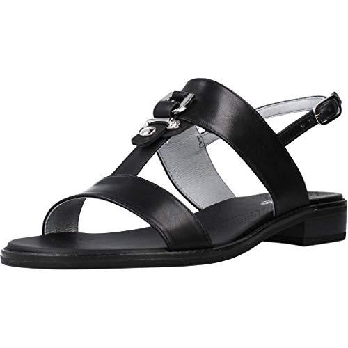 Sandalo da Donna NeroGiardini in Pelle Nero E012492D. Scarpa dal Design Raffinato. Collezione Primavera Estate 2020. EU 39