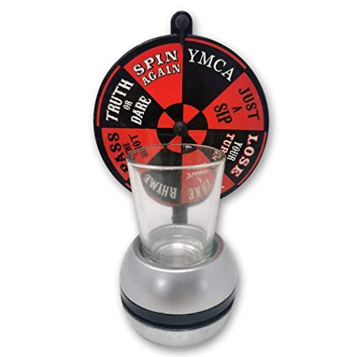 EKNA Juego de beber Wheel of Shots – Spinning Wheel Toy – Rueda de la suerte con vaso de chupito (rueda de chupito)