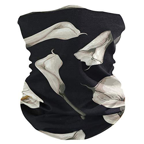 Pasamontañas AJINGA para la cara, máscara para el polvo, máscara facial para mujer con bolsillo interior, 2 piezas de filtro, polaina para el cuello, diseño de dragón y flor de acuarela, color Multicolor 4, tamaño talla única