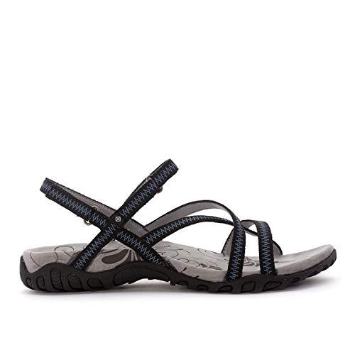 Izas | Sandalias Deportivas para Mujer Tena I | Sandalias de Trekking y Senderismo | Ligeras y Cómodas Diseñadas para Caminar | Poliéster | Cangrejeras | Verano | Cierre Velcro