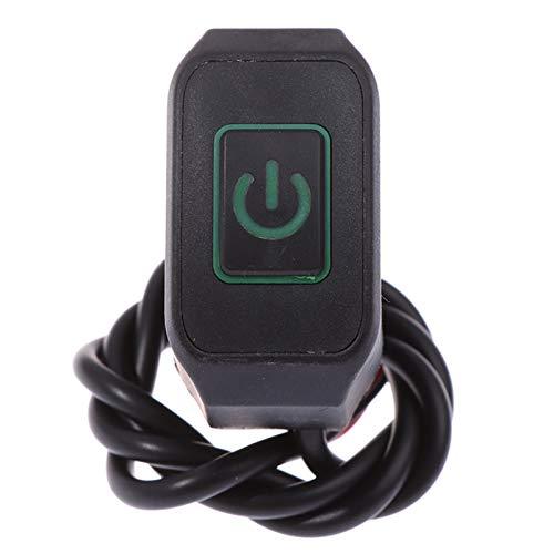 Cambio de manillar de motocicleta de 22 mm 7/8 '' Montry Buttton para el botón del interruptor de control impermeable de la estrella eléctrica con luz Interruptor Moto (Color : Green)