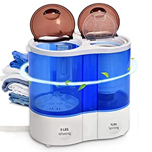 Safeplus Compact Mini Twin Tub Washing Machine