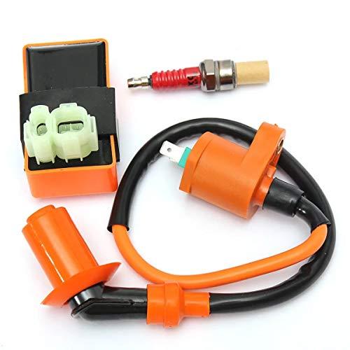 Piezas Motores para motocicleta Bobina de encendido + Spark Plug + Racing CDI caja for GY6 50 125 150cc ciclomotor ATV van los carros