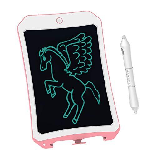 BIBOYELF 8.5 Inch Bordoschermo Elettronico Doodle Board,Tavolo da Disegno Per Bambini-Best Regali Per Bambini&Adulti (Rosa Bianco D)