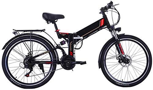 Bici electrica, 26 pulgadas bicicleta eléctrica plegable de la montaña E-Bici 21 Velocidad 36V 8A / 10A desmontable de litio de la batería eléctrica de la bicicleta for adultos 300W Motor de alto carb