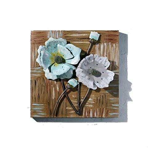 HandWerk Dekoration Industrielle Retro alte stereoskopische hölzerne Planke, die kreatives Wohnzimmer Lotus Flowers Murals Paintings Restaurant Wall Decoration zeichnet (Color : B)
