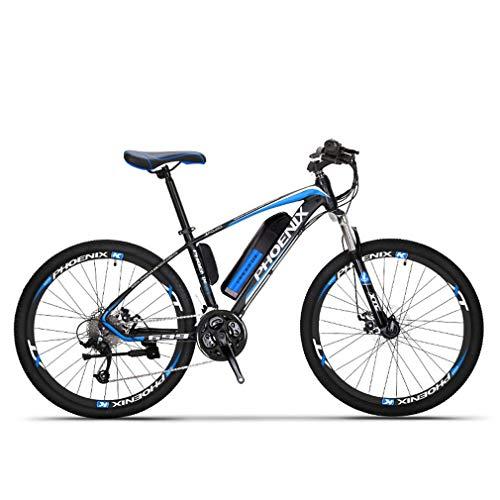 Adulto Bicicleta eléctrica de montaña, Bicicletas 250W Nieve, extraíble 36V 10AH batería de Litio de 27 de Velocidad de Bicicleta eléctrica, 26 Pulgadas Ruedas,Negro