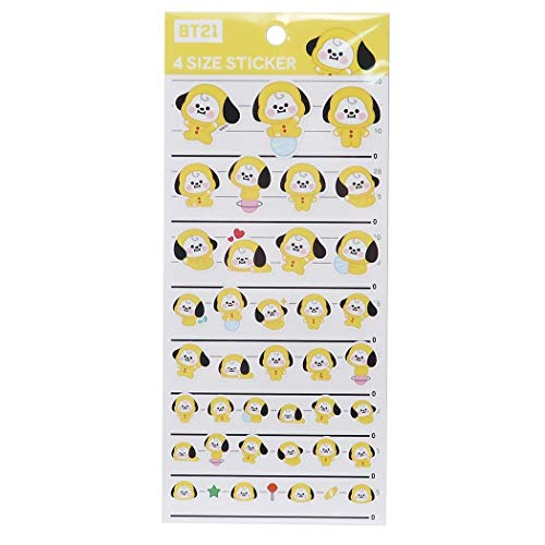 BT21[4サイズ ステッカー]CHIMMY/シール シート LINE FRIENDS