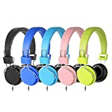 Kaysent Heavy Duty Classroom Headphones Set for Students - (KPB-10Mixed) 10 Packs Multi-Colors Kids' Headphones for School, Library, Computers, Children and Adult(No Microphone)