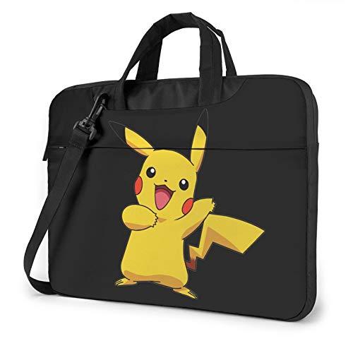 Po_Kemon Poster Pi_Kachu Llaptop Bag 15.6 Inch Briefcase Shoulder Bag Satchel Tablet Bussiness Carrying Handbag Laptop Sleeve