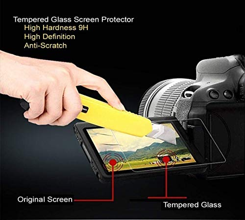 ACUTAS® Tempered Glass Screen Guard Protector for Canon EOS 200D Digital SLR Camera