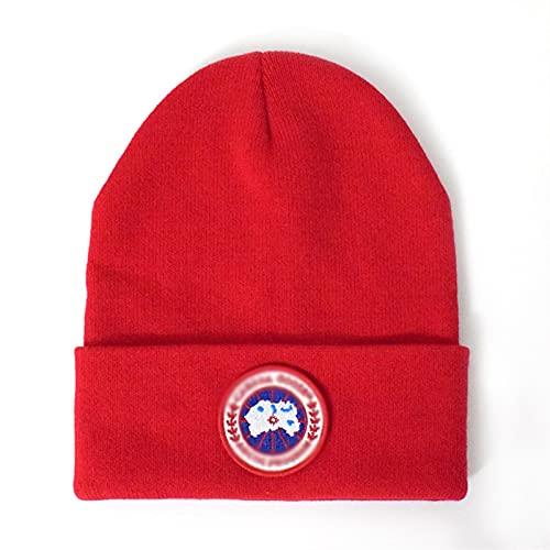 MEIMEIGUO Europa y los Estados Unidos Otoño e Invierno engrosados Baotou Hat Hat Woolen Cap Men and Women Trendy Brand Fashion Protección de Oreja Caliente Sombrero de Punto MEIMEIGUO