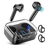 True Wireless Earbuds, TWS Bluetooth 5.0 Headphones, Touch Control in-Ear Bluetooth Earbuds, Hi-Fi Stereo Mini Earbuds, IPX7 Waterproof Sport Earphones, USB-C Quick Charging Case, Mono & Twin Mode