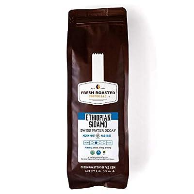 Fresh Roasted Coffee LLC, Organic Ethiopian Sidamo Swiss Water Process Decaf Coffee, Medium Roast