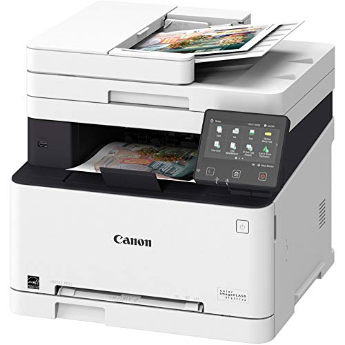 Canon All-in-One Wireless Laser Printer imageclass mf634cdw (Renewed) with Single-Pass Duplex Scan, Printer, Scanner, Copier & Fax Machine + Cartridge Set, Compatible with Canon Office Home Printer