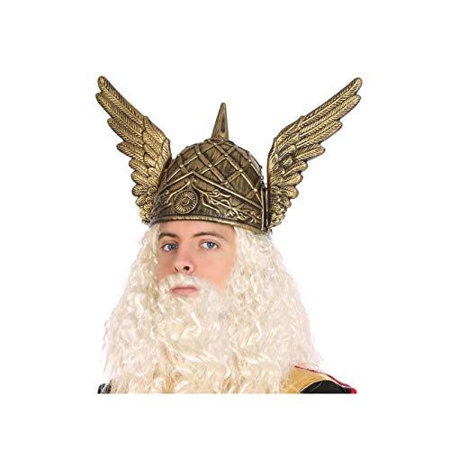 Atosa-58331 Casco Dios Vikingo Thor, Color Dorado (58331)