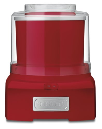 Cuisinart ICE-21R Frozen Yogurt, Ice Cream & Sorbet Maker, Red, 1.5 Quart