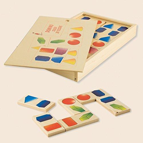 Dida - Das Domino Spiel Geometrische 3D Formen Ist EIN Kinderspiel Für Kleinkinder , Aber Auch EIN Gesellschaftsspiel Für Die Ganze Familie. Das Holzdomino Ist EIN Familienspiel
