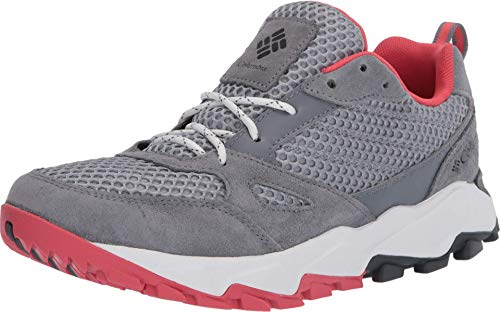 Columbia womens Ivo Trail Breeze Hiking Shoe, Earl Grey/Juicy, 9 US