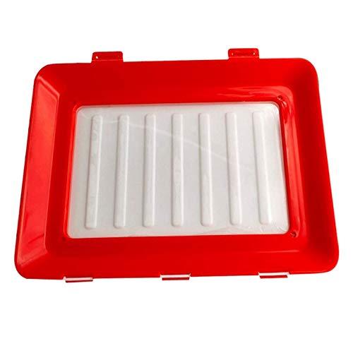 Tubayia Bandeja de alimentos frescos, bandeja de almacenamiento para frigorífico, color rojo