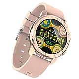 BNMY Smartwatch, Moniteur De Fréquence Cardiaque Fitness Tracker, Moniteur D'activité avec Écran Tactile De 1,28', Podomètre Étanche IP68 Moniteur De Sommeil Smartwatch pour iOS Et Android,D