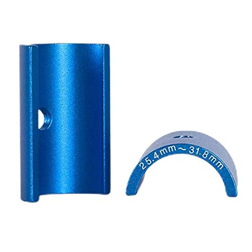 freneci Pair Aluminum Bike Handlebar Shim 25.4-31.8mm Stem Bar Adapter Reducer Spare - Blue, 45mm