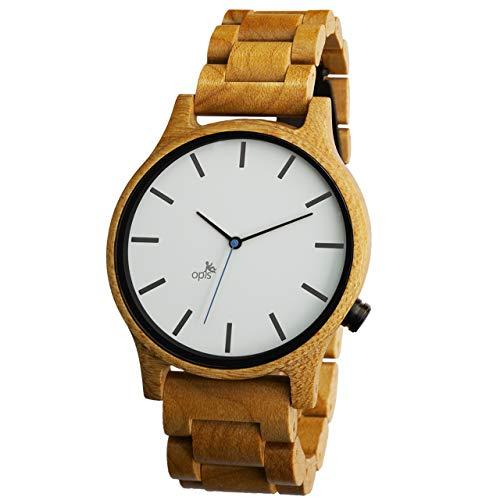 Opis UR-M1 (Arce Blanco) Reloj de Madera para Hombre/Reloj de Pulsera de Madera/Reloj Pulsera Vintage para Hombre