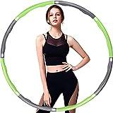 Aoweika Hula Hoop Fitness, Hula Hoop para Adultos, Diseño de Ancho Ajustable Desmontable de 8 Secciones (28-37,4 in) Ideal para Niños, Principiantes y Profesionales, con Mini Cinta Métrica