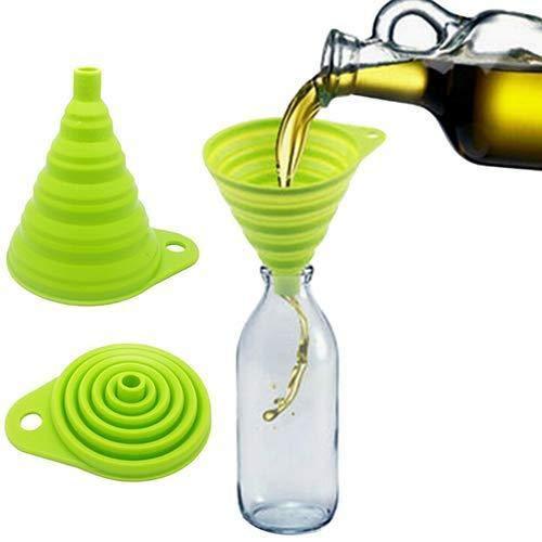 Depory - Mini embudo de silicona plegable, estilo Hopper, práctica herramienta de cocina