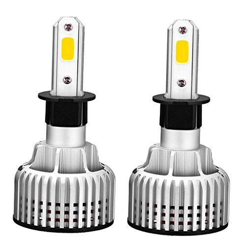 2pcs Super Bright Auto Truck LED Lámpara Frontal Bombillas de Faros Haz Amarillo - H3